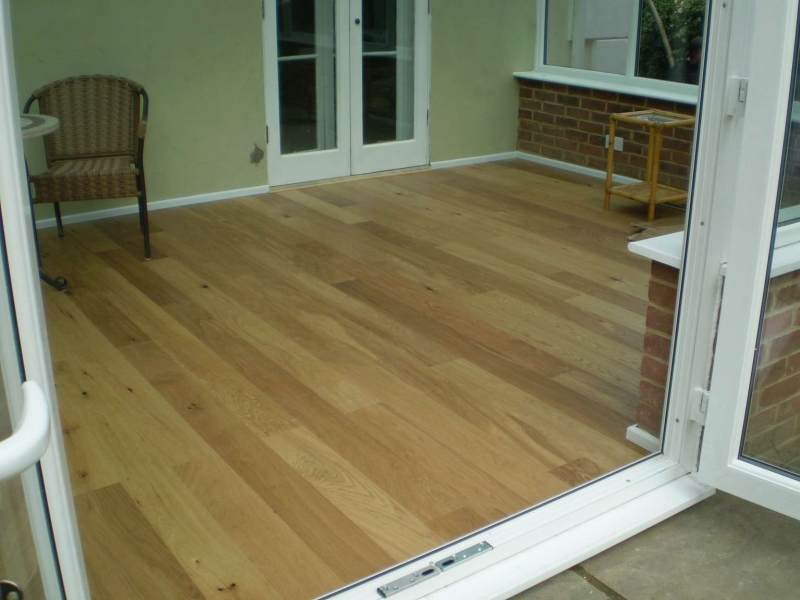 Engineered timber floor layed over an electric underfloor heating system
